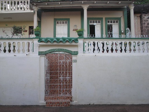 'Entrance of the casa' Casas particulares are an alternative to hotels in Cuba.