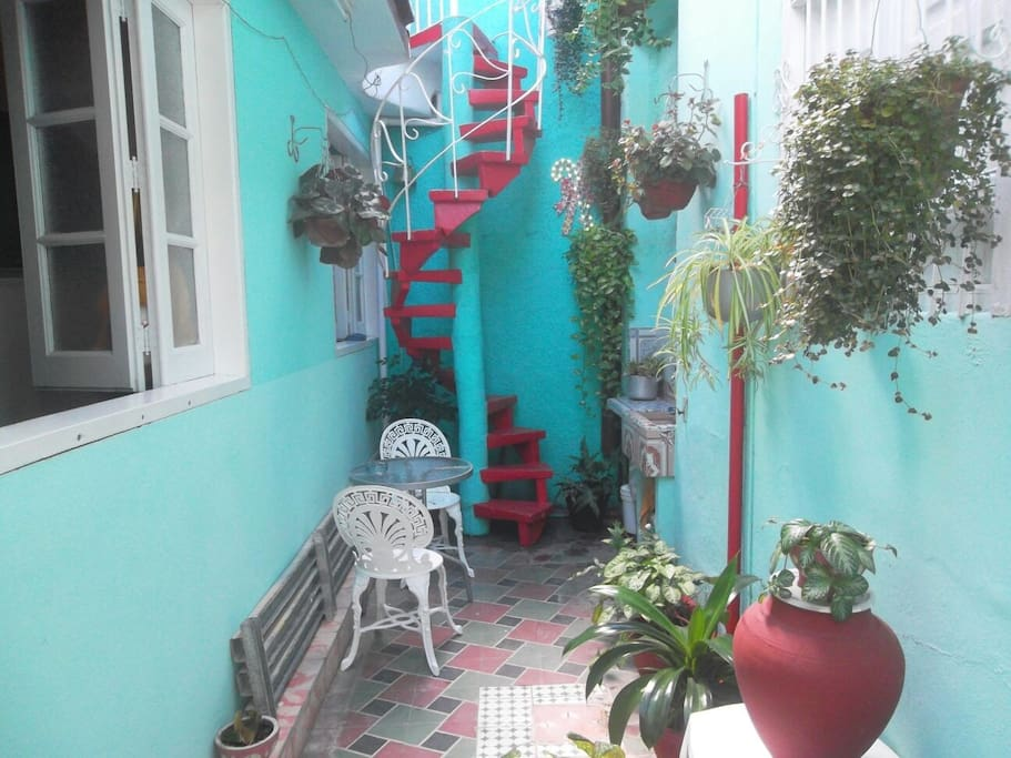 'Interior patio' Casas particulares are an alternative to hotels in Cuba.