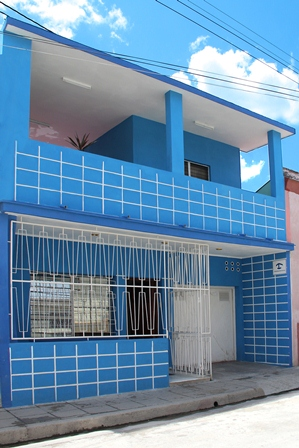 'House-front' Casas particulares are an alternative to hotels in Cuba.
