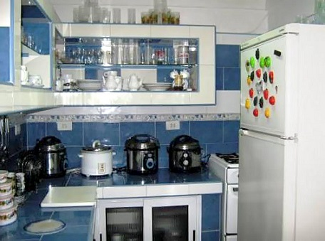 'Cocina' Casas particulares are an alternative to hotels in Cuba.