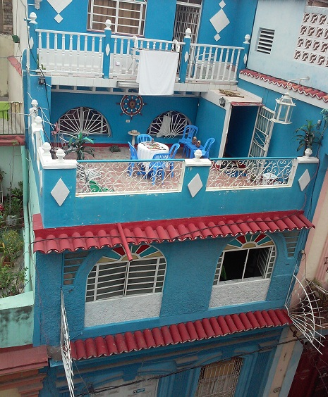 'House view' Casas particulares are an alternative to hotels in Cuba.