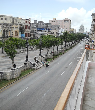 'View to Paseo del Prado from the terrace' Casas particulares are an alternative to hotels in Cuba.