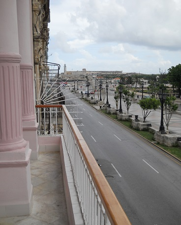 'View to Prado avenue from the terrace' Casas particulares are an alternative to hotels in Cuba.