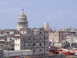 'View of the Capitol' Casas particulares are an alternative to hotels in Cuba.