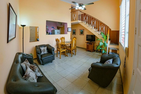 'Living room' Casas particulares are an alternative to hotels in Cuba.