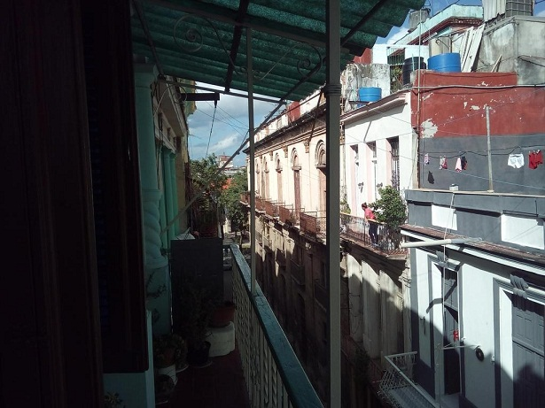 'View from the balcony' Casas particulares are an alternative to hotels in Cuba.