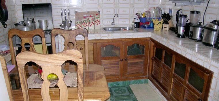 'Kitchen-dining room' Casas particulares are an alternative to hotels in Cuba.