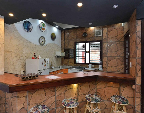 'Bar at the living room' Casas particulares are an alternative to hotels in Cuba.