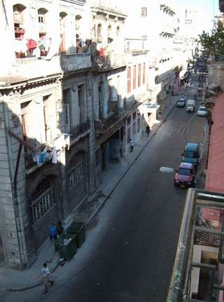 'View from Balcony' Casas particulares are an alternative to hotels in Cuba.