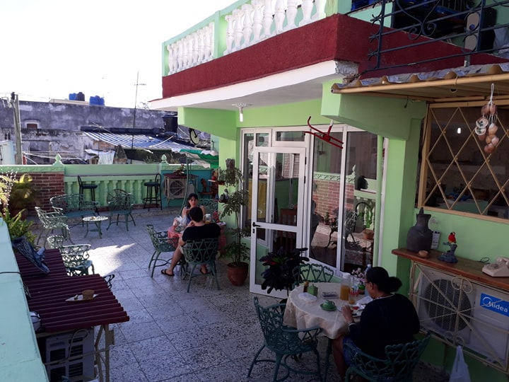 'Terrace on top' Casas particulares are an alternative to hotels in Cuba.