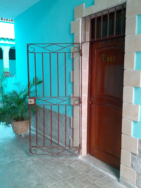 'Entrance' Casas particulares are an alternative to hotels in Cuba.