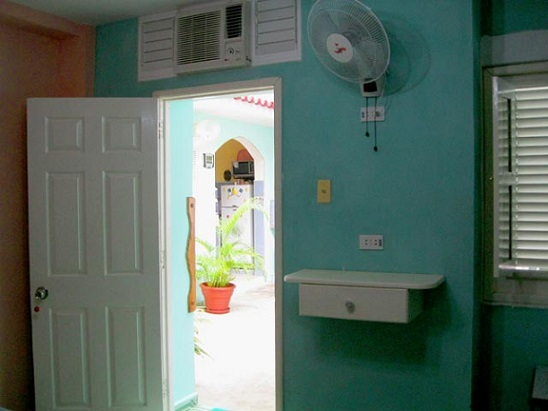 'Bedroom entrance' Casas particulares are an alternative to hotels in Cuba.