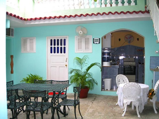 'Courtyard and kitchen' Casas particulares are an alternative to hotels in Cuba.