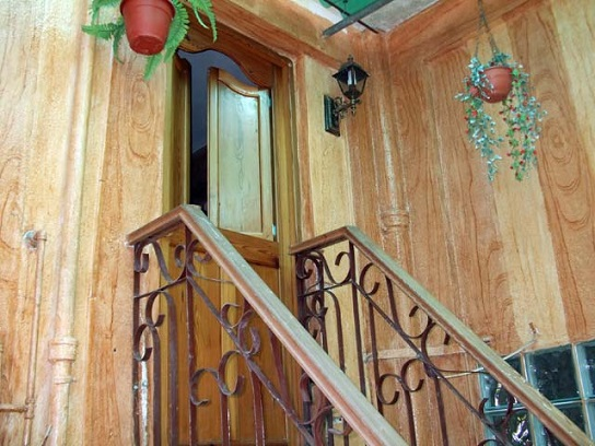 'Stairway to bedroom' Casas particulares are an alternative to hotels in Cuba.