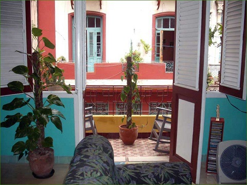 'Living room and balcony' Casas particulares are an alternative to hotels in Cuba.