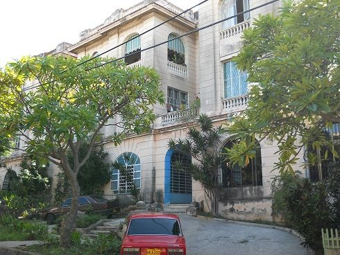 'Front of the Building' Casas particulares are an alternative to hotels in Cuba.
