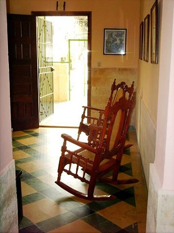 'Rocking chairs in the Living room' Casas particulares are an alternative to hotels in Cuba.