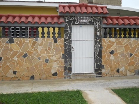 'House entrance' Casas particulares are an alternative to hotels in Cuba.
