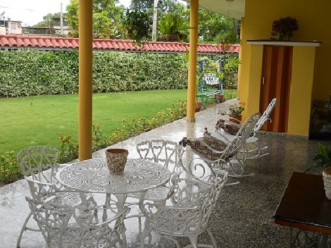 'Garden and portal' Casas particulares are an alternative to hotels in Cuba.