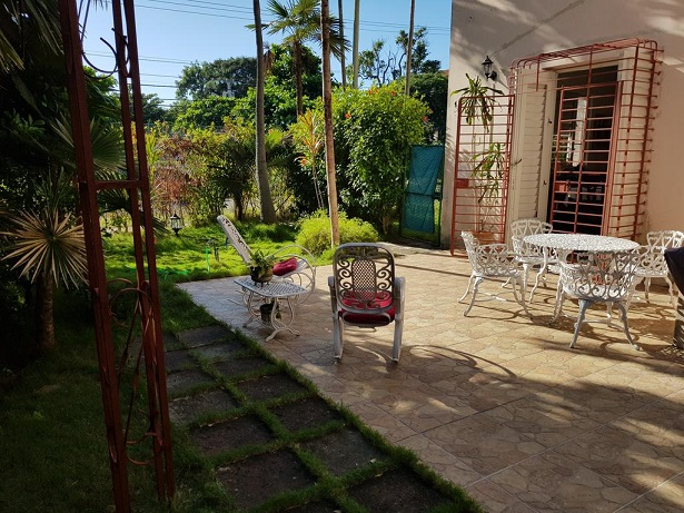'Backyard' Casas particulares are an alternative to hotels in Cuba.