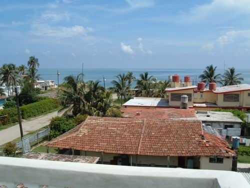 'View from terrace2' Casas particulares are an alternative to hotels in Cuba.
