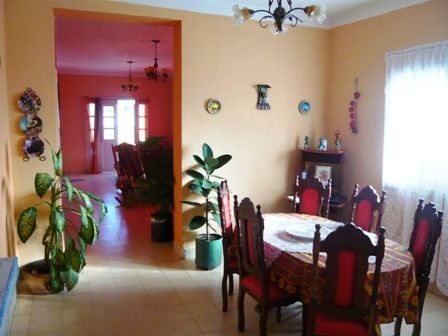 'Dining and living room' Casas particulares are an alternative to hotels in Cuba.