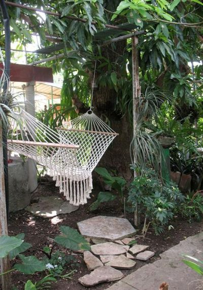 'Hammock in the patio' Casas particulares are an alternative to hotels in Cuba.