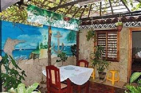 'Courtyard' Casas particulares are an alternative to hotels in Cuba.