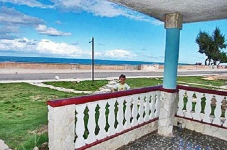 'View from portal' Casas particulares are an alternative to hotels in Cuba.