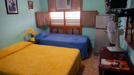 'Habitacion' Casas particulares are an alternative to hotels in Cuba.