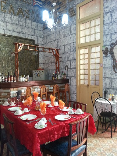 'Bar and dining room' Casas particulares are an alternative to hotels in Cuba.