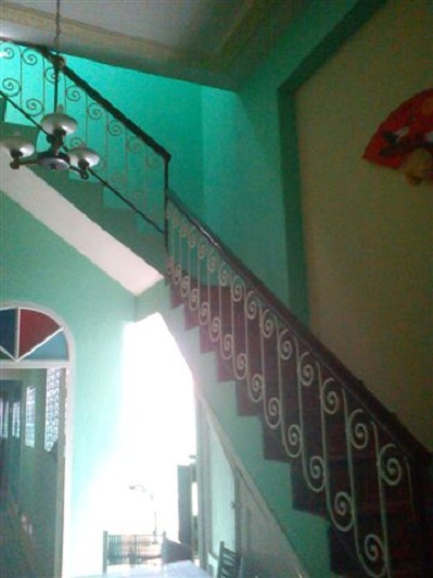 'Dining room and stairs'