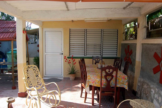 'Terrace' Casas particulares are an alternative to hotels in Cuba.