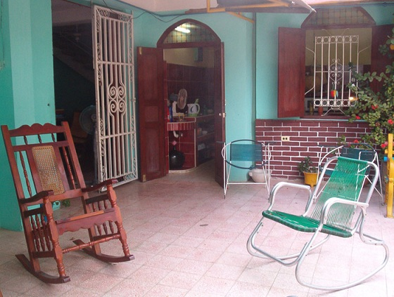 'Patio' Casas particulares are an alternative to hotels in Cuba.