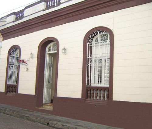 'House Front' Casas particulares are an alternative to hotels in Cuba.