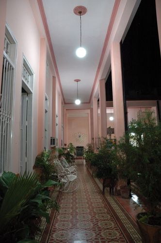'Hall inside the house' Casas particulares are an alternative to hotels in Cuba.
