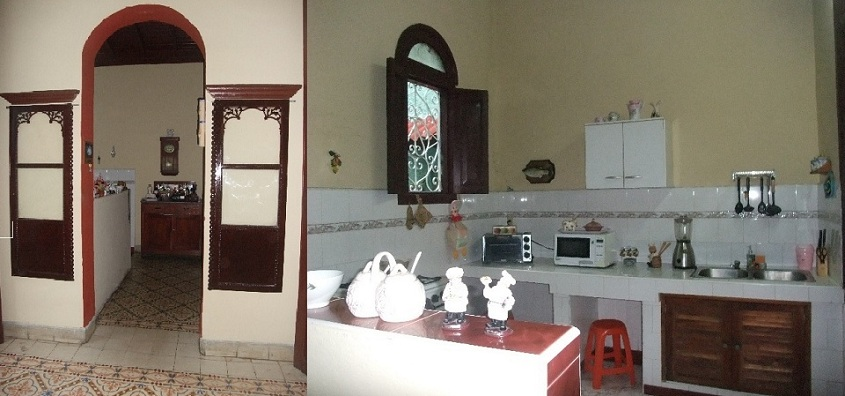 'Cocina' Casas particulares are an alternative to hotels in Cuba.