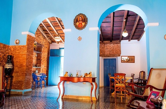 'Living and dining room' Casas particulares are an alternative to hotels in Cuba.