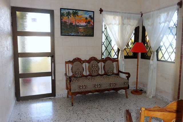 'Living room1' Casas particulares are an alternative to hotels in Cuba.