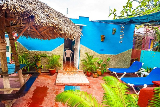 'Patio and entrance of bedroom 2' Casas particulares are an alternative to hotels in Cuba.