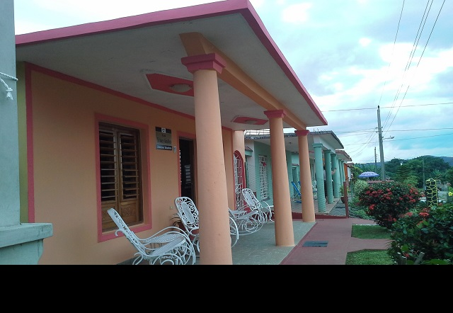 'Porch' Casas particulares are an alternative to hotels in Cuba.