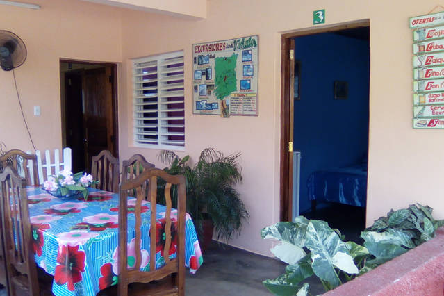 'Dining room and entrance to room 3' Casas particulares are an alternative to hotels in Cuba.