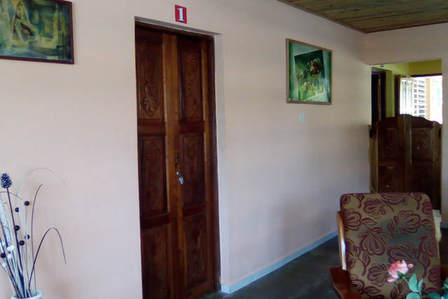 'Entrance to room' Casas particulares are an alternative to hotels in Cuba.