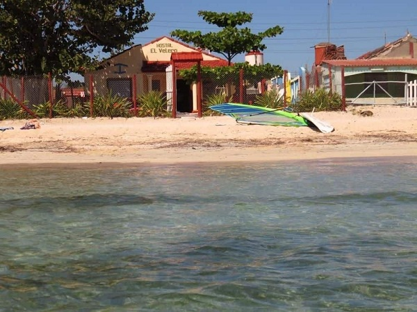 'View of the house from the sea' Casas particulares are an alternative to hotels in Cuba.