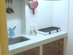'Kitchenette' Casas particulares are an alternative to hotels in Cuba.